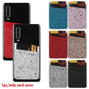Universal-Mobile-Phone-Wallet-Credit-Card-Holder-Adhesive-Sticker-Solid-Pocket