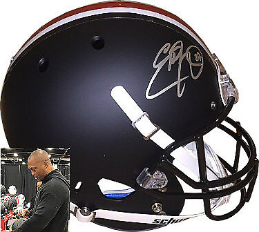 JSA ITP Eddie George signed Ohio State Schutt Black Matte FS Rep Helmet #27