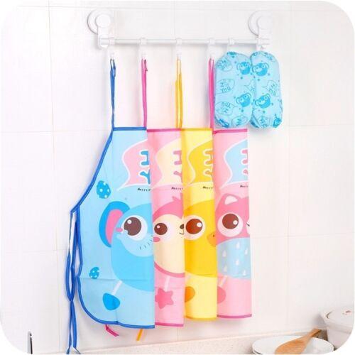 Waterproof Kids Apron Cartoon Baby Kitchen Art Painting Eating Craft Bib Best