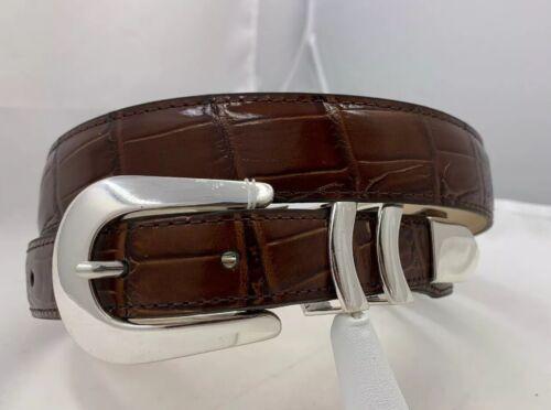 Brighton CATERA Croco ITALIAN Leather Belt  Size 40  Made in USA 19407 NWT