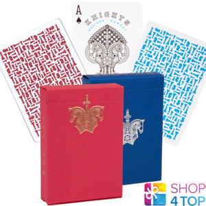 2-DECKS-ELLUSIONIST-BLUE-RED-KNIGHTS-PLAYING-CARDS-MADISON-RAMSEY-MAGIC-NEW