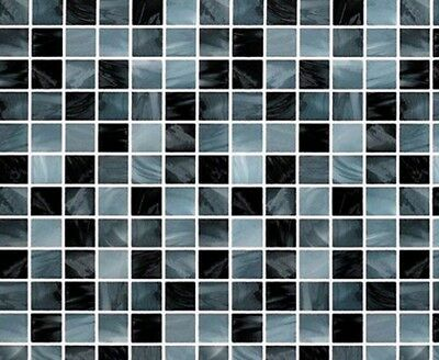 Black Color Tile Pattern Pearl Wall Sticker - 2 sheets