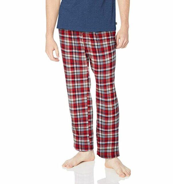 NEW NAUTICA MENS SLEEPWEAR PANTS RED BLACK PLAID S M L XL