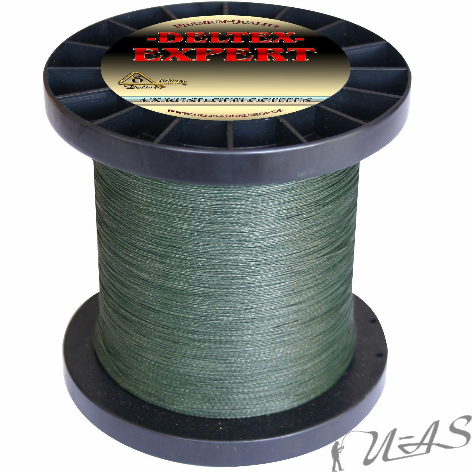 Deltex Expert Rund Geflochtene Angel Schnur 0,22mm 1000M Grün 100% Pe  Kva  | Hohe Qualität Und Geringen Overhead