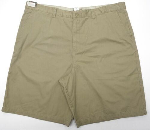 Mens Flat Front Shorts Covington Taylor Twill Khaki Cotton