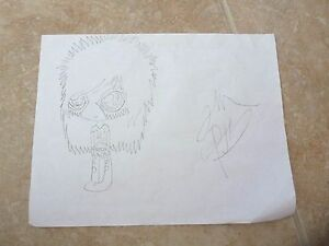 JAKE-PITTS-Black-Veil-Bride-1-Of-A-Kind-Fan-Drawing-Signed-Autographed-8-5-x-11