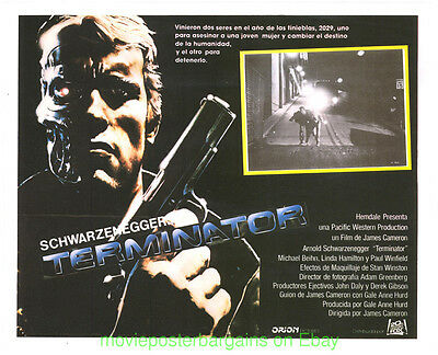 THE TERMINATOR Lobby Card Size 11x14  Movie Poster Mexican ARNOLD SCHWARZENEGGER