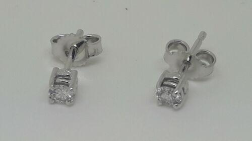 0,20 PREZZO PIU/' BASSO! Orecchini PuntoLuce Diamanti taglio Brillante F//VS1 ct