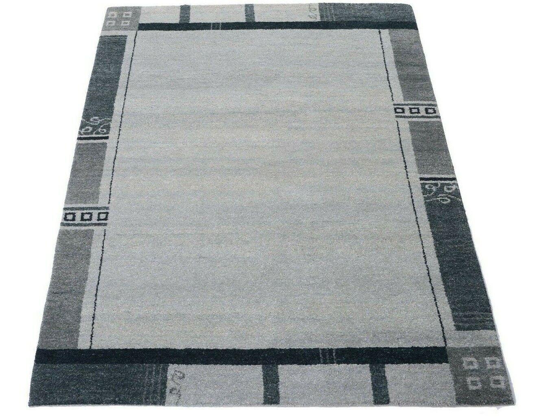 Gabbeh 204 x 145 cm Tappeto Orientale 100% LANA VERGINE Modern mano intessuti Grigio Nuovo
