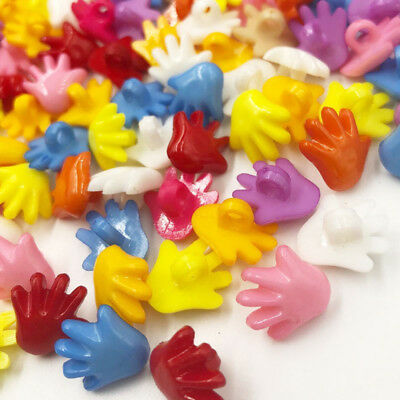100PC 18mm Cute Hand Plastic Buttons/Sewing Accessories lots Mix PT48