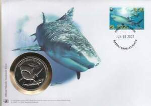 Numisbrief WWF 2007 St. Kitts - Galeocerdo Cuvieri / Tijgerhaai (021)