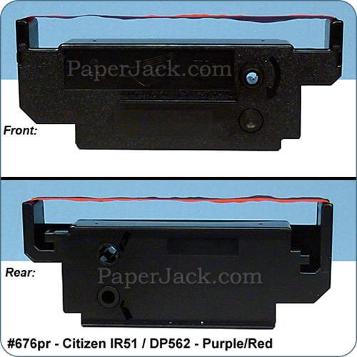 Case of 12 Ink Cartridges ~ Citizen IR-51 Color: Purple//Red DP-562 #676pr