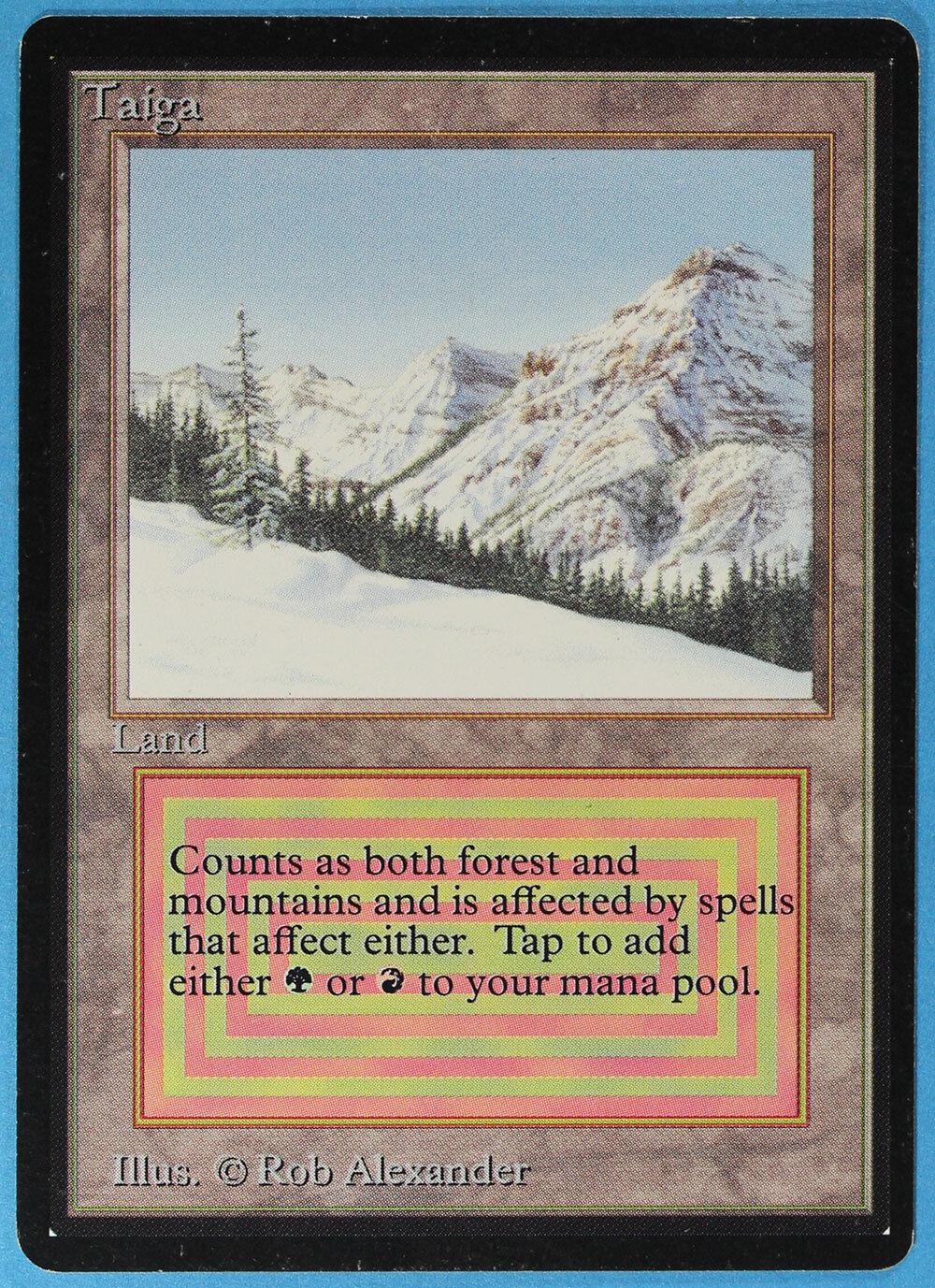 Taiga Beta NM-M Dual Land Rare Reserved List MAGIC MAGIC MAGIC MTG CARD (ID) ABUGames e46841