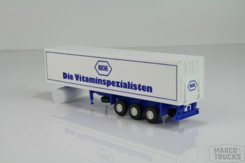 """Roskopf Kühlauflieger Ladebordwand weiß//blau /""""Roche Vitamin/"""" //RS107-2"""