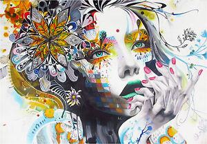 A0  canvas print Urban princess modern graffiti street art Australia painting