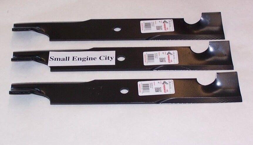 """Set of 3 Hi-Lift Blades Exmark Mulcher Blades for 52/"""" Deck Code 1-303495"""