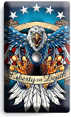 BALD EAGLE AMERICAN FLAG WINGS 4 GANG LIGHT SWITCH COVER WALL PLATES ROOM DECOR