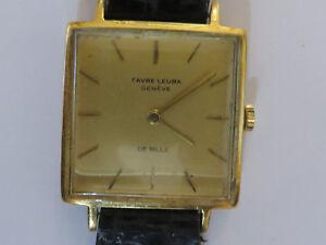 Super Rare Gents Mens FavreLeuba Vintage Wristwatch Geneve Gold - Morden, London, United Kingdom - Super Rare Gents Mens FavreLeuba Vintage Wristwatch Geneve Gold - Morden, London, United Kingdom