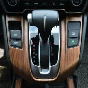 for honda crv cr v 2017 2018 wood color grain interior gear shift panel cover ebay. Black Bedroom Furniture Sets. Home Design Ideas