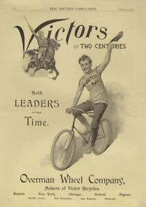 For Two Centuries Both Leaders of Their Time - Victor Bicycles ad 1895