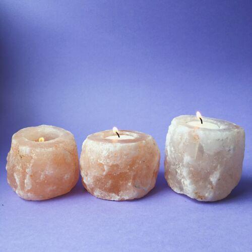 HIMALAYAN SALT TEALIGHT Candle HOLDER CRYSTAL THERAPEUTIC NATURAL AROMATHERAPY