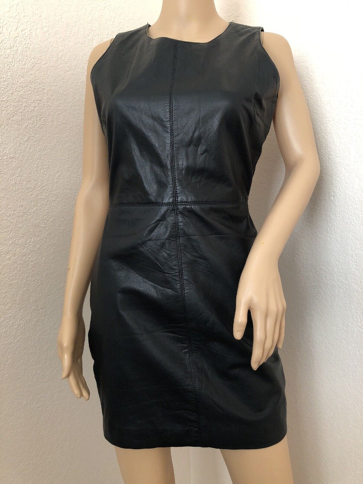 Capuletschwarz Leather Tank Mini DressS CURRENT SEASON