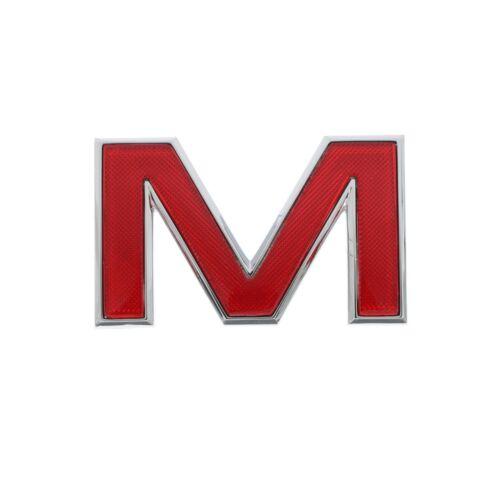 "OEM NEW Front Grille /""M/"" Emblem Badge Red w// Chrome Trim 91-12 GMC 15634641"
