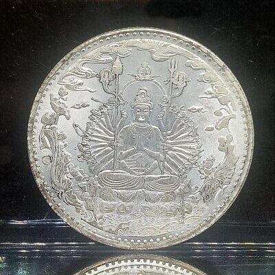 GUAN YIN Big Coin 1000 Hands Buddha Quan Im Amulet Blessing Success Lucky