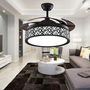 Details About 42 Black Nest Ceiling Fans Light Remote 3 Color Changing Led Chandelier Fixture