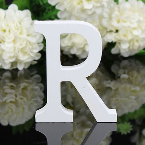 26 Letters Wooden Ornament Hanging Signs DIY White Pain Wood Home Decoration 8cm