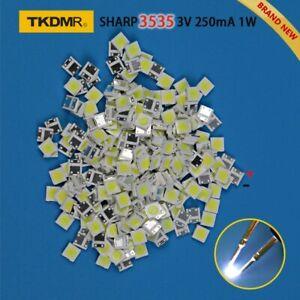 Tkdmr-100pcs-DEL-SHARP-Retroeclairage-DEL-2-W-3535-3-V-pour-TV-DEL-Retroeclairage-Bande