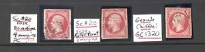 FRANCE 20 SPECIALIST COLLECTION LOT x3 $143 ANNOTATED $$$$$$$