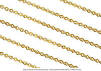 22k Gold Plated 1.8mm Round Cable Chain Jewelry Necklace Sold By The Foot