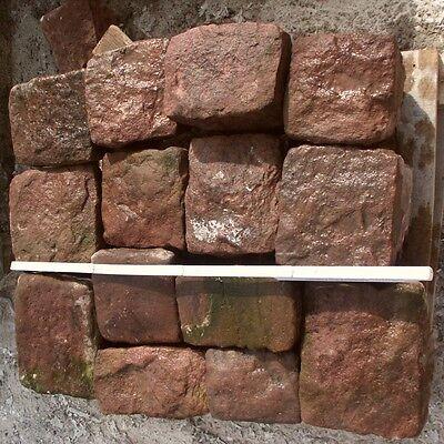 Aus Dem Ausland Importiert 0,5 Qm Pflastersteine Buntsandsteine Naturstein Rasenkante Kopfsteinpflaster SchöNe Lustre