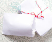 Tütchen Spitze Geschenktüten Papiertüten SPITZENRAND  Tüten Papier weiß 10 St.