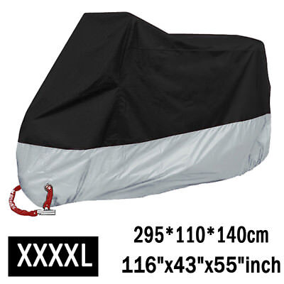 "XXXXL Motorcycle Rain Dust Cover Waterproof Protector Black//Green 116/""x43/""x55/"""