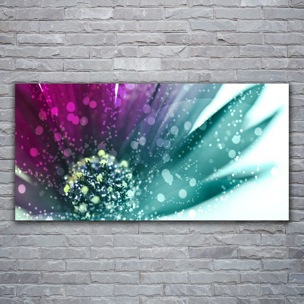 Canvas print Wall art on 120x60 Image Picture Flower Art