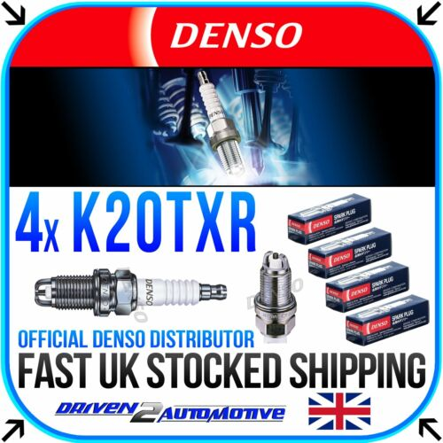 4x DENSO K20TXR nichel CANDELE PER VAUXHALL TIGRA MKI 1.6 16V 07.94-12.00