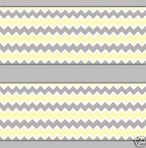 Yellow Gray Grey Chevron Wallpaper Border Wall Decal Boy