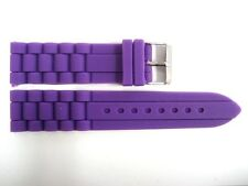 20MM PURPLE SILICONE RUBBER SPORT WATCH BAND STRAP FITS FOSSIL