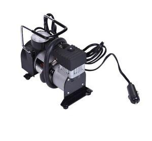 Auto-compressore-d-039-aria-con-manometro-pressione-12v-Pompa-ad-aria-compressore-100psi-Auto