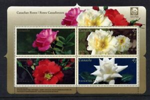 Canada-2001-Canadian-Roses-Miniature-Sheet-Never-Hinged