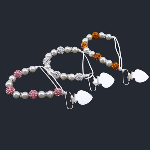 Beaded Nipple Chain Clip Pacifier With Anti-Drop Clip Feeding Pacifier Clip N7