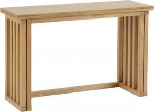Details About Oak Varnish Fold Away Extending Dining Table Richie Depth 40 80cm Only