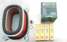Service Kit Honda XRV 750 Africa Twin, Spark Plugs,Air/Oil Filter, Sump Plug