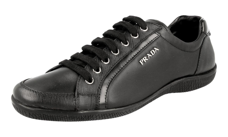 shoes PRADA SAFFIANO LUXUEUX 3E5620 3E5620 3E5620 black NOUVEAUX 41 41,5 UK 8 6e31e4