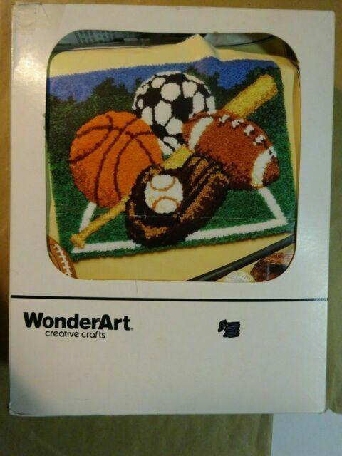 8 X 8 Wonderart Soccer Latch Hook Kit