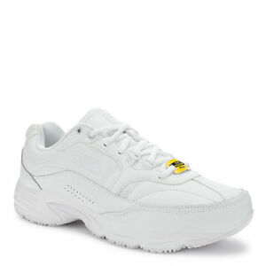 a1a3f759 Details about The Fila Memory Workshift Slip Resistant Shoes in White in  Sizes 6.5 to 15