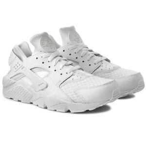 Scarpe-da-uomo-Nike-Air-Huarache-bianche-sneakers-leggere-comode-ammortizzate