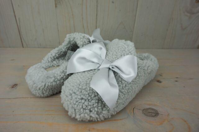 e7182cfa086 UGG Addison Grey Violet Curly Sheepskin Silky Bow Slippers US 6/ EUR 37